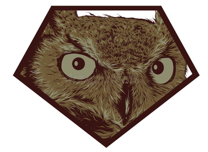 Логотип сыча стоковая фотография