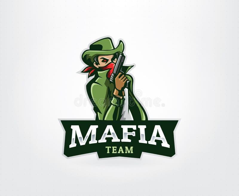 Логотип талисмана Gangster иллюстрация штока