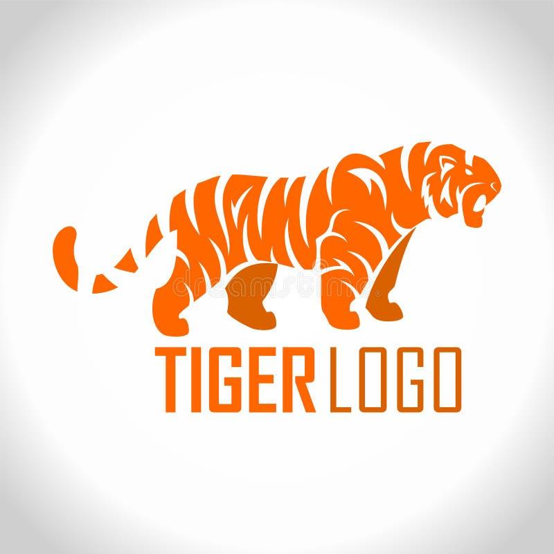 Логотип талисмана тигра вектора сердитый бесплатная иллюстрация