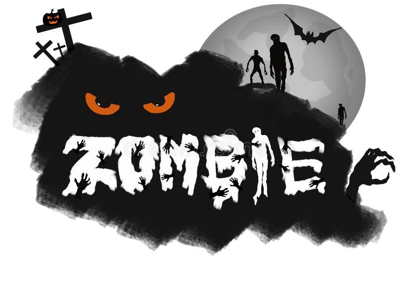 Логотип творческой каллиграфии на хеллоуин при нарисованная рука бесплатная иллюстрация