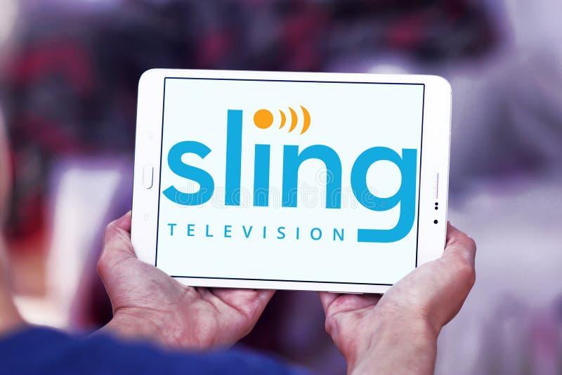 Логотип ТВ слинга стоковые изображения rf