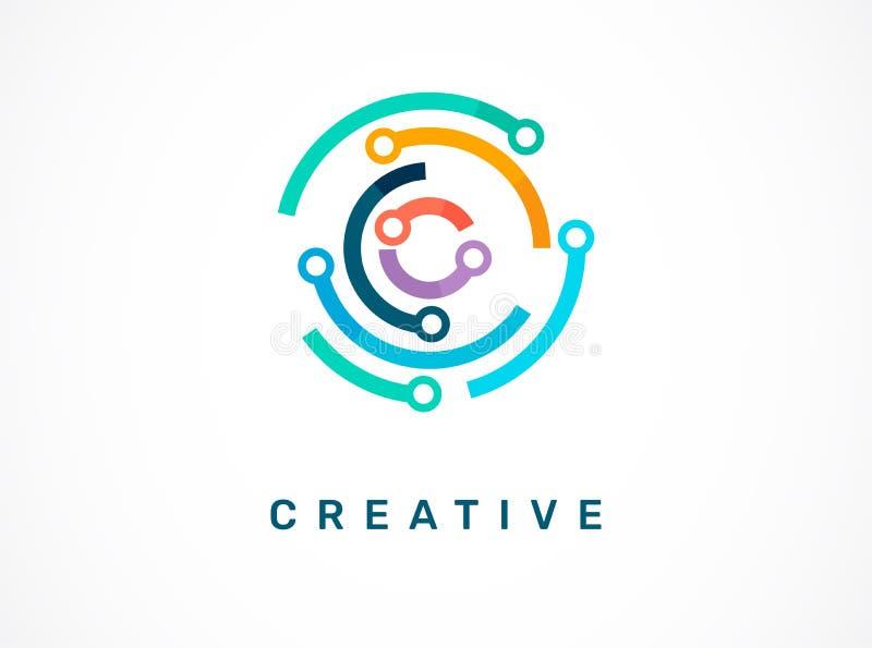 Логотип - технология, значок техника и символ иллюстрация вектора