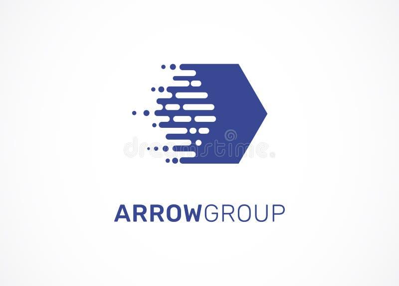 Логотип - технология, техник, значок стрелки и символ иллюстрация вектора