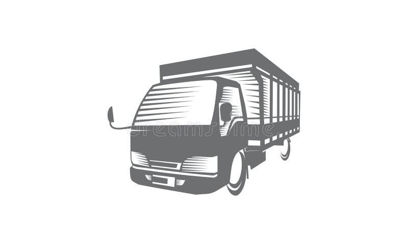 Логотип тележки иллюстрация вектора