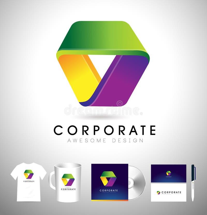 Логотип треугольника корпоративный Вектор значка треугольника иллюстрация штока