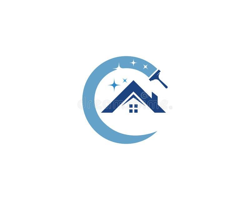 Логотип уборщика дома иллюстрация вектора