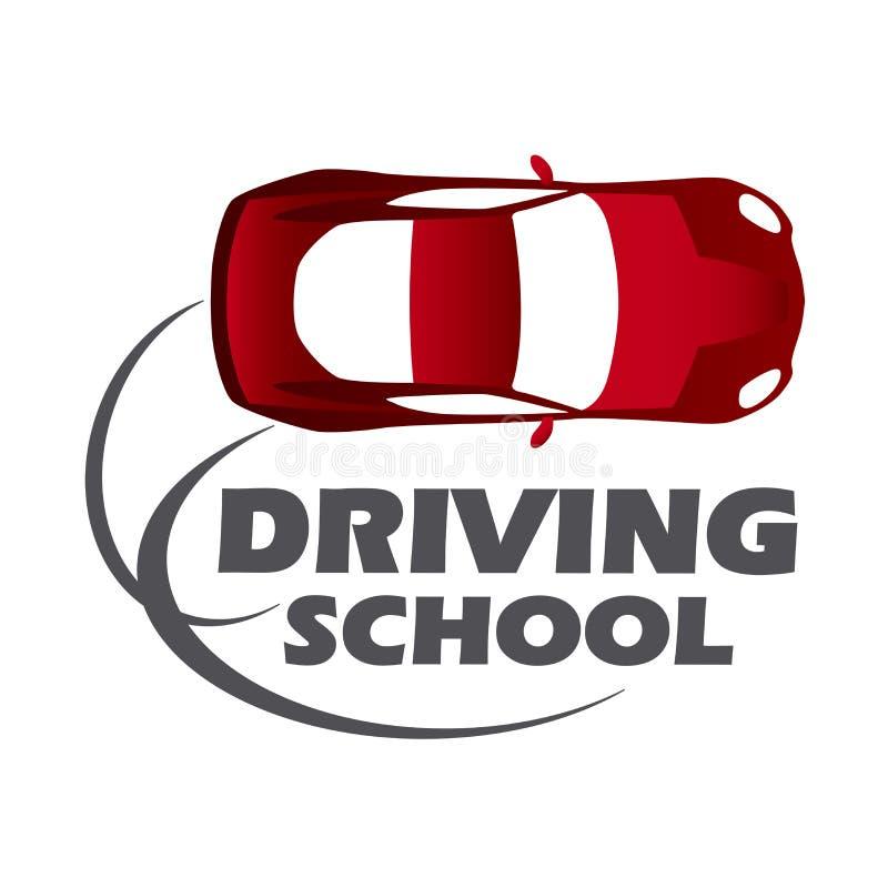 Логотип управляя школы, автомобиля и механика бесплатная иллюстрация