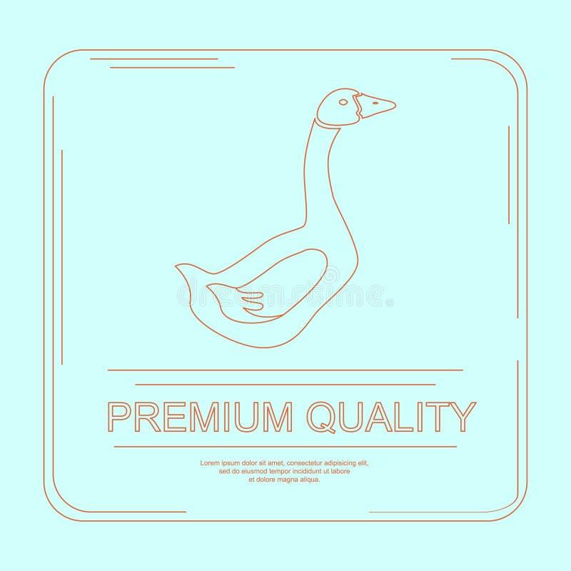 Логотип фермы или продукта гусыни бесплатная иллюстрация