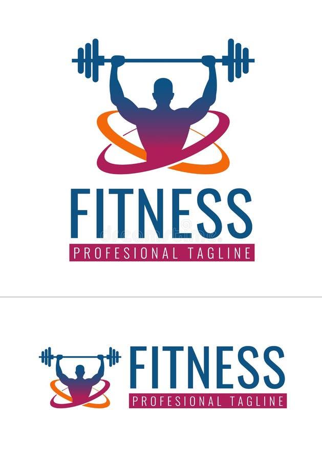 Логотип фитнеса в формате вектора иллюстрация штока