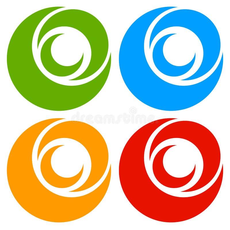 Download Логотип, форма с 3 кругами - спираль значка, логотип вортекса Иллюстрация вектора - иллюстрации насчитывающей несимметричной, эмблема: 81813822