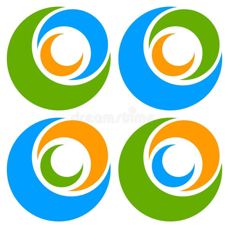 Download Логотип, форма с 3 кругами - спираль значка, логотип вортекса Иллюстрация вектора - иллюстрации насчитывающей элемент, свободно: 81813827