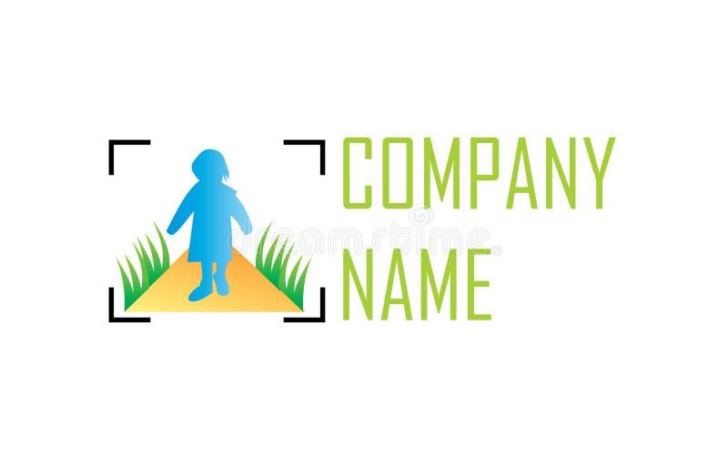 Логотип фото рамки иллюстрация вектора
