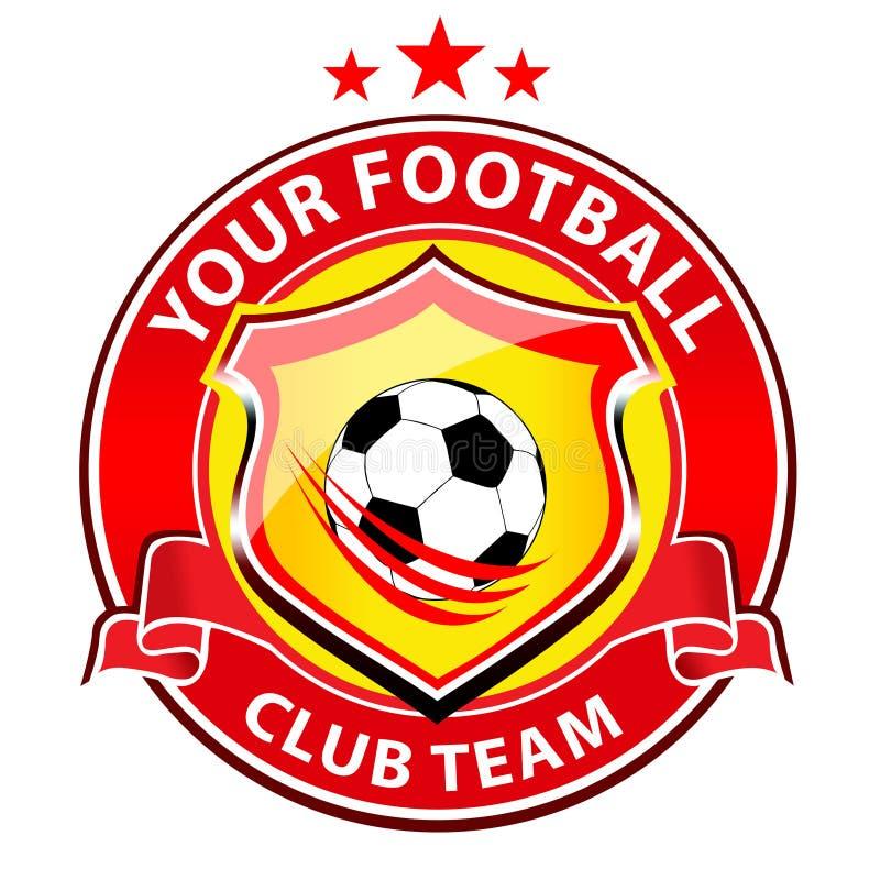 Логотип футбольной команды иллюстрация вектора
