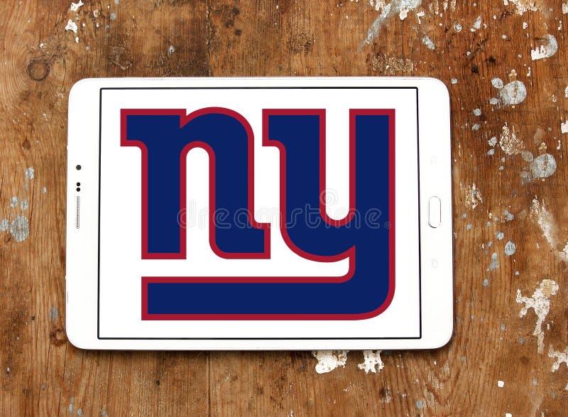 Логотип футбольной команды New York Giants американский стоковые фотографии rf