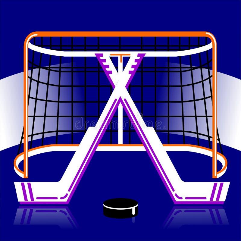 Логотип хоккея в векторе иллюстрация штока