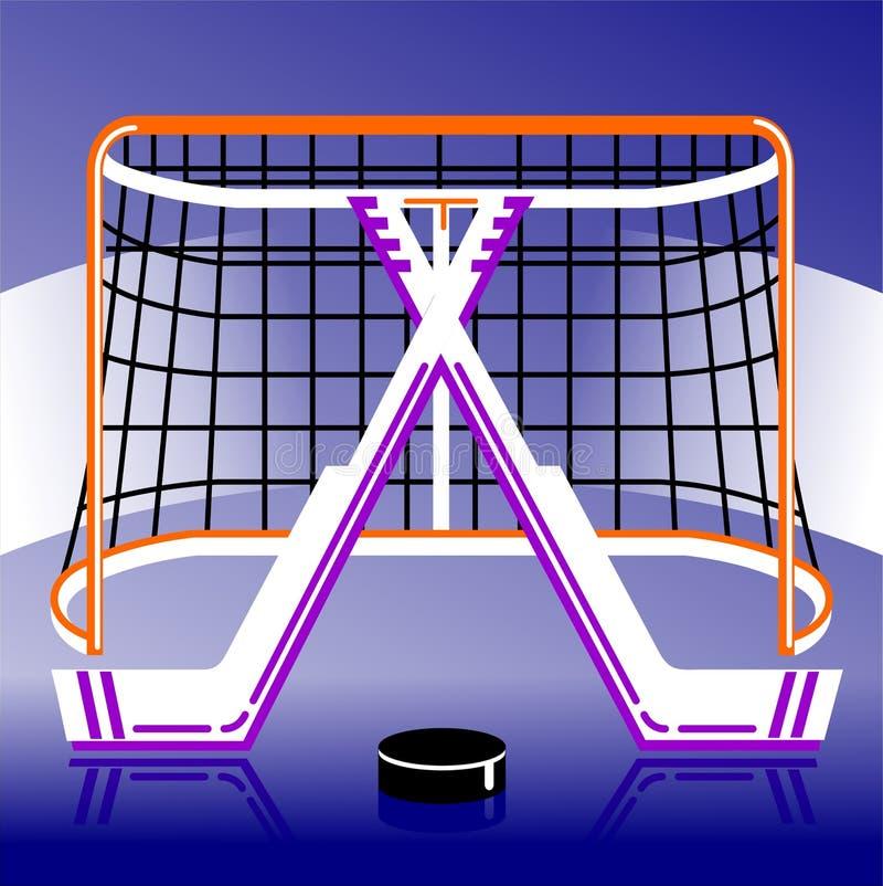 Логотип хоккея в векторе иллюстрация вектора