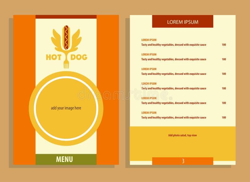 Логотип хот-дога Логотип вектора для фаст-фуда иллюстрация штока
