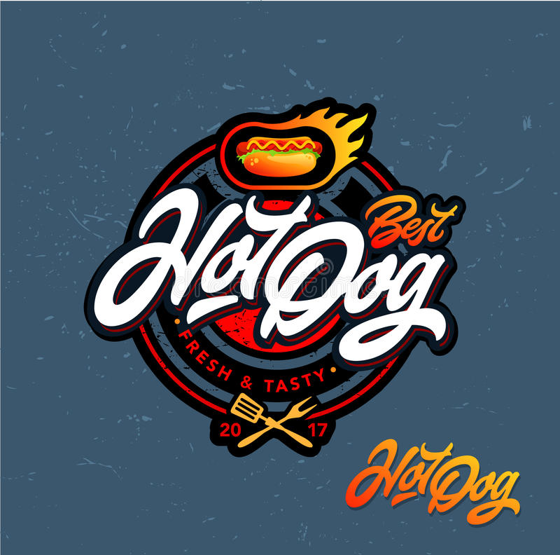 Логотип хот-дога стоковое фото rf