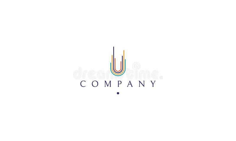 Логотип цвета вектора на котором абстрактное изображение превращаясь города иллюстрация штока