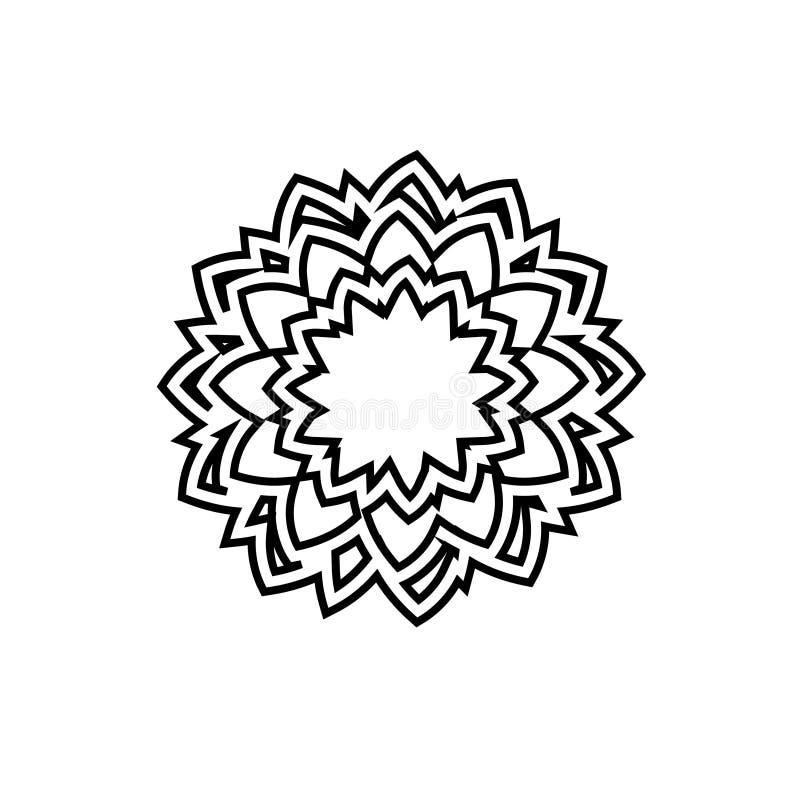 Логотип цветка Логотип вектора розетки Логотип вектора диамантов Логотип украшений бесплатная иллюстрация