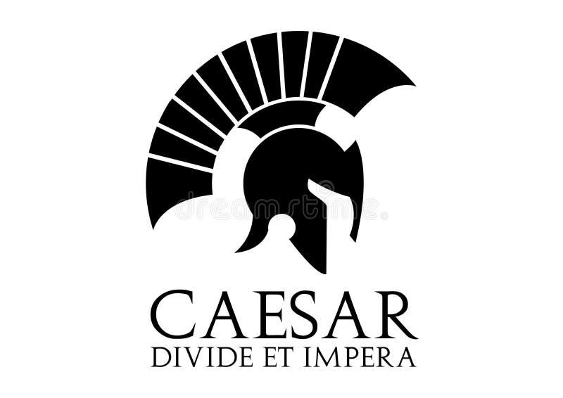 Логотип цезаря иллюстрация вектора