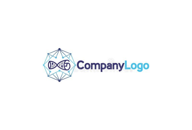 Логотип цепи блока вектора иллюстрация штока