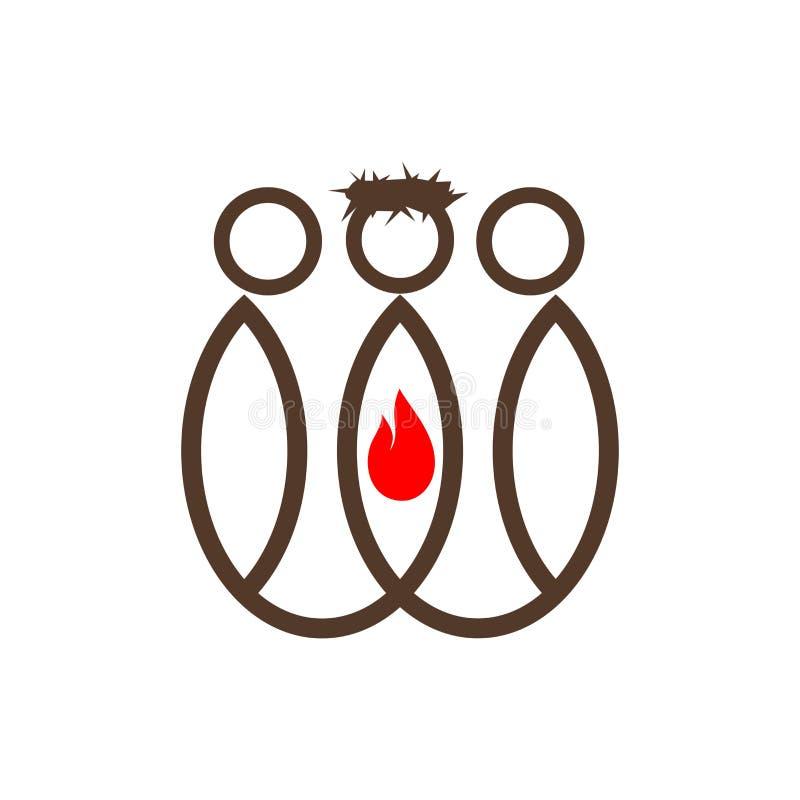 Логотип церков Христианская церковь, ученики и Иисус иллюстрация штока