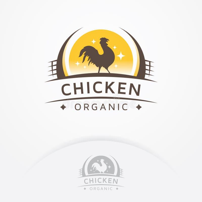 Логотип цыпленка органический бесплатная иллюстрация
