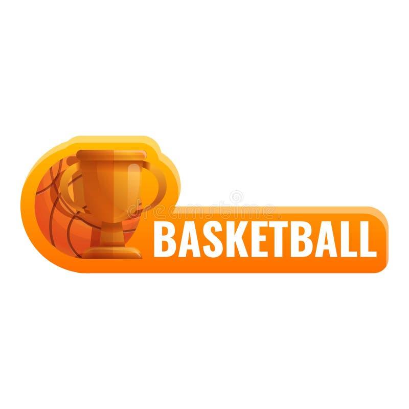 Логотип чашки баскетбола, стиль мультфильма бесплатная иллюстрация