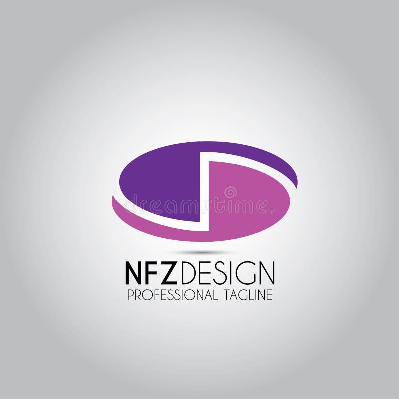 Логотип шаблона письма s d иллюстрация вектора