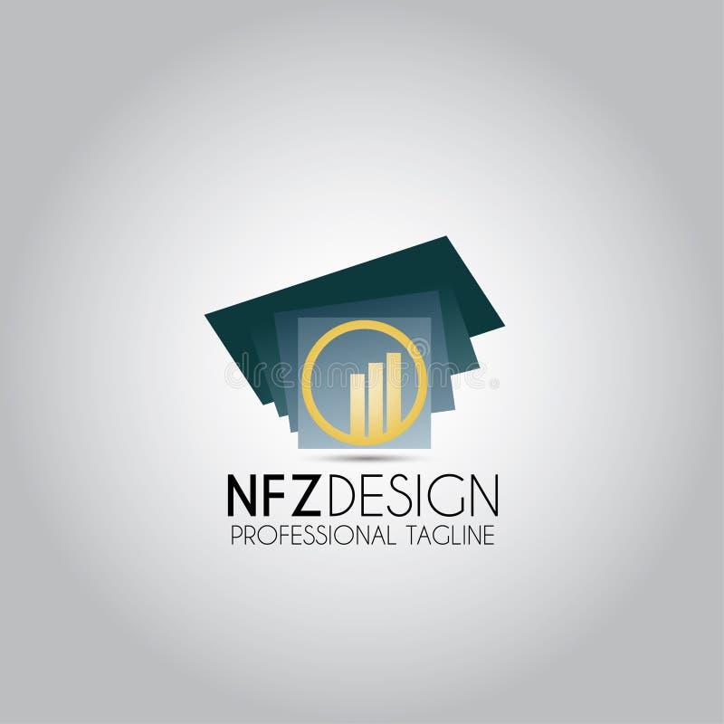 Логотип шаблона строения круговой иллюстрация штока