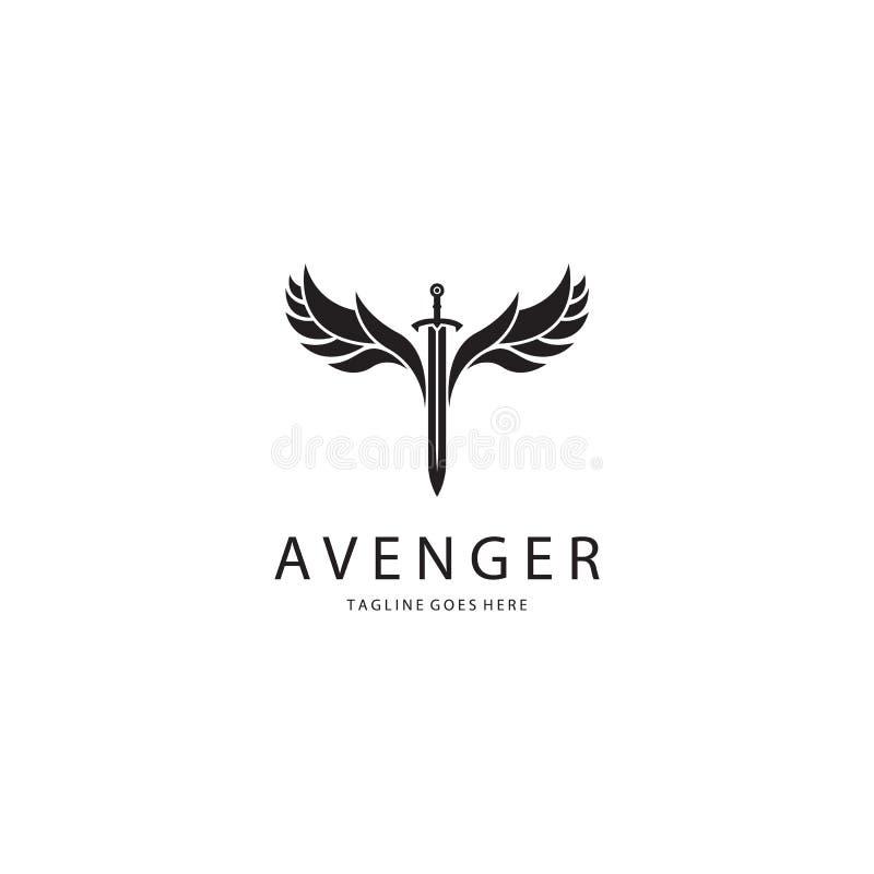 Логотип шпаги иллюстрация вектора
