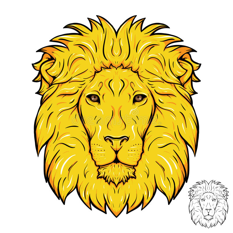 Логотип льва головной стоковые фото
