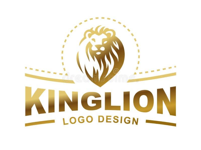 Логотип льва головной - vector иллюстрация, дизайн эмблемы бесплатная иллюстрация