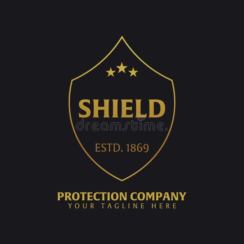 Логотип экрана Компания защиты Безопасность радетель также вектор иллюстрации притяжки corel иллюстрация вектора