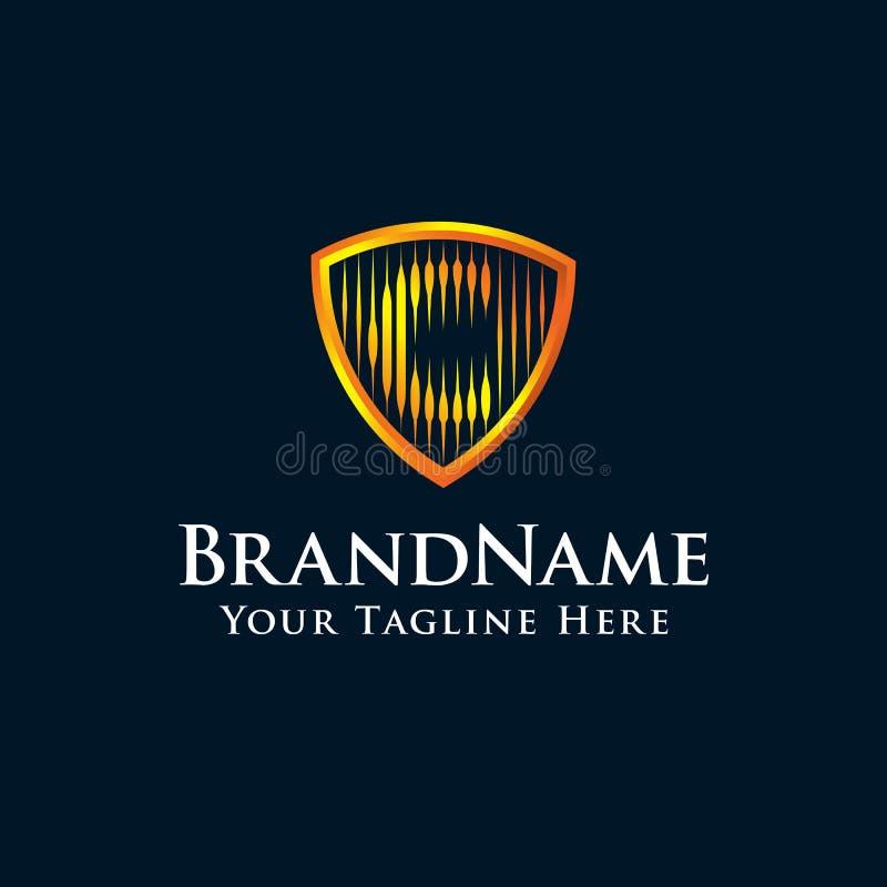 Логотип экрана c начального письма с цветом золота бесплатная иллюстрация