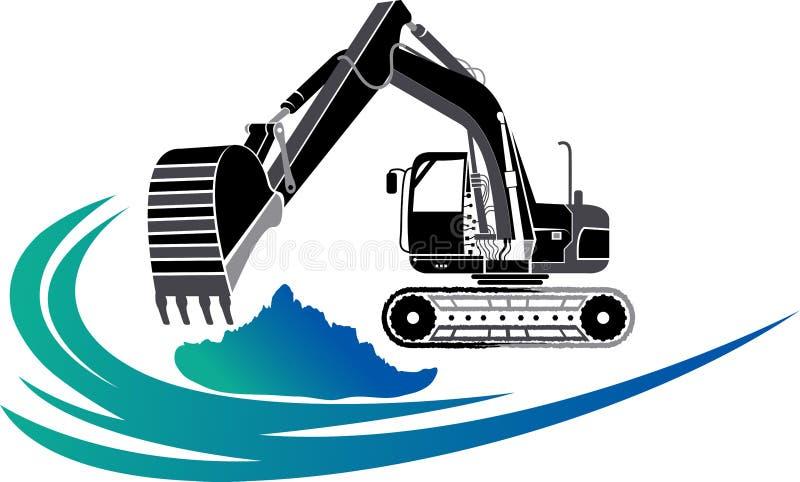 Логотип экскаватора иллюстрация штока