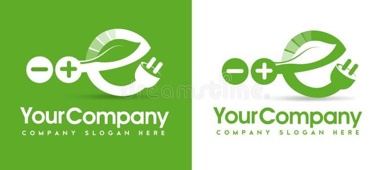 Логотип энергии Eco иллюстрация вектора