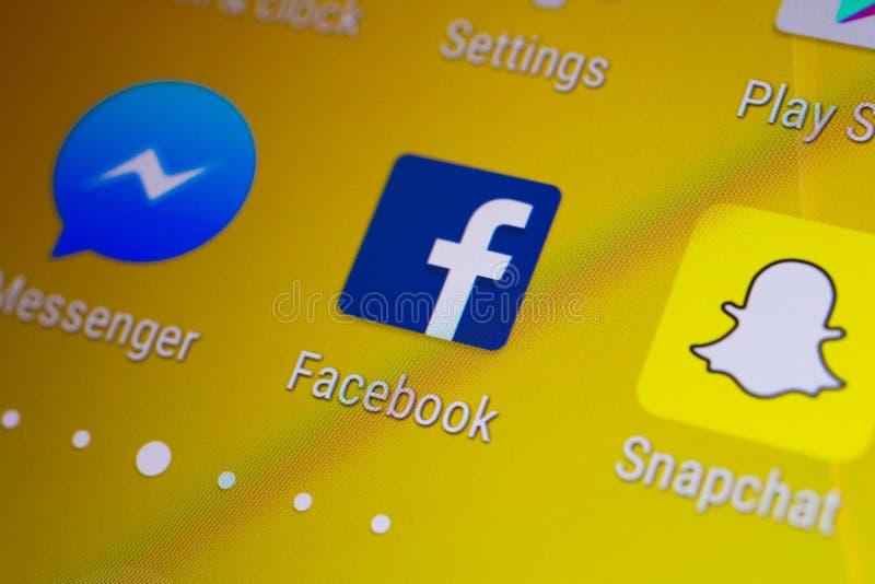 Логотип эскиза применения Facebook на smartphone андроида стоковые фото