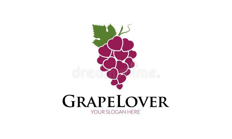 Логотип любовника виноградины бесплатная иллюстрация