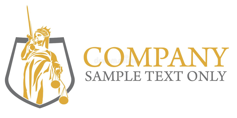 Логотип Юриста Компании иллюстрация вектора