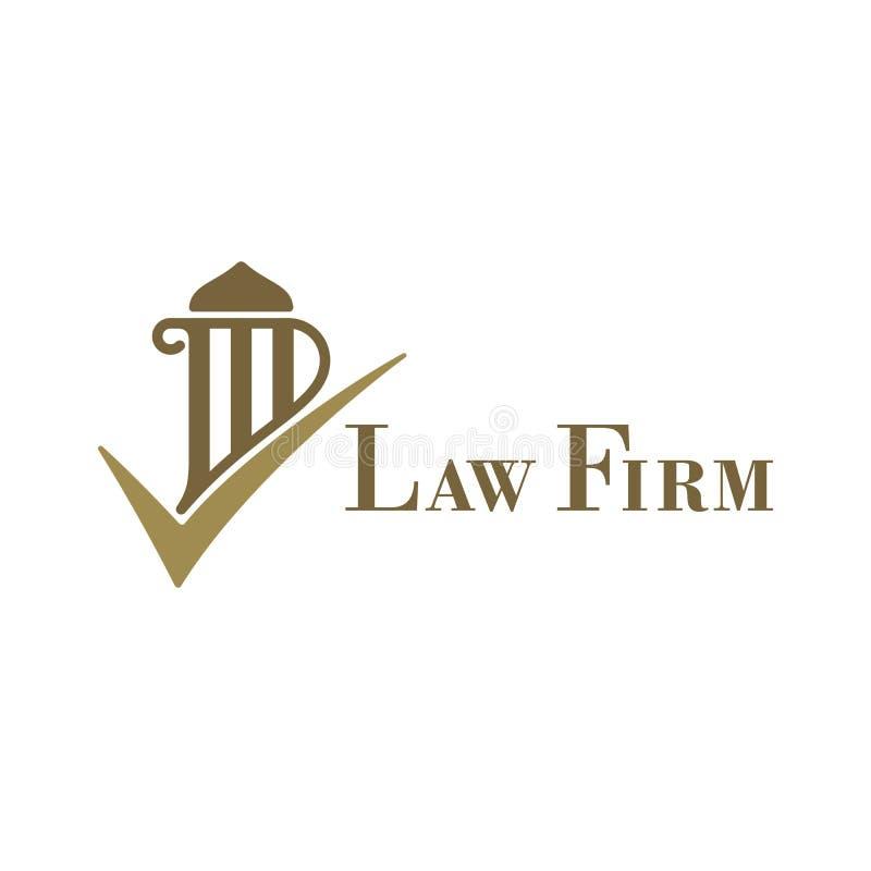 Логотип юридической фирмы с штендером и контрольной пометкой также   Логотип юридической фирмы с штендером и контрольной пометкой также вектор иллюстрации притяжки corel Иллюстрация вектора