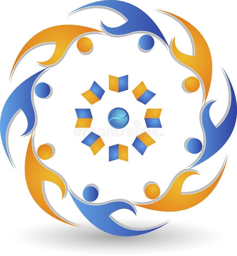Логотип людей образования иллюстрация штока