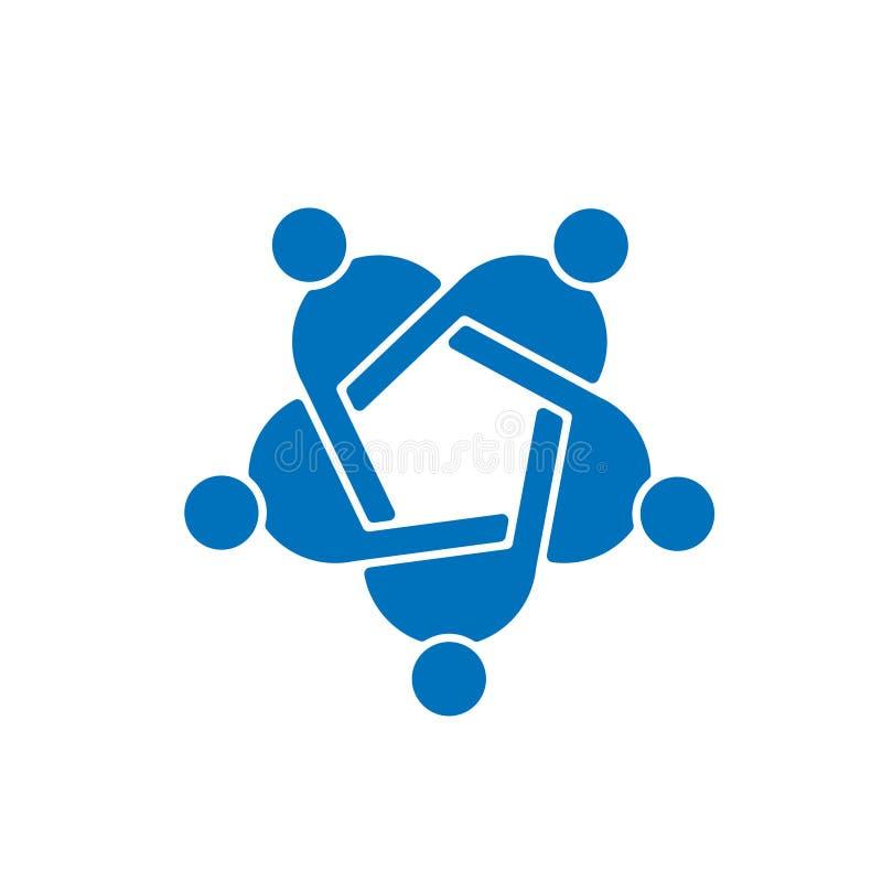 Логотип людей сыгранности 5 бесплатная иллюстрация
