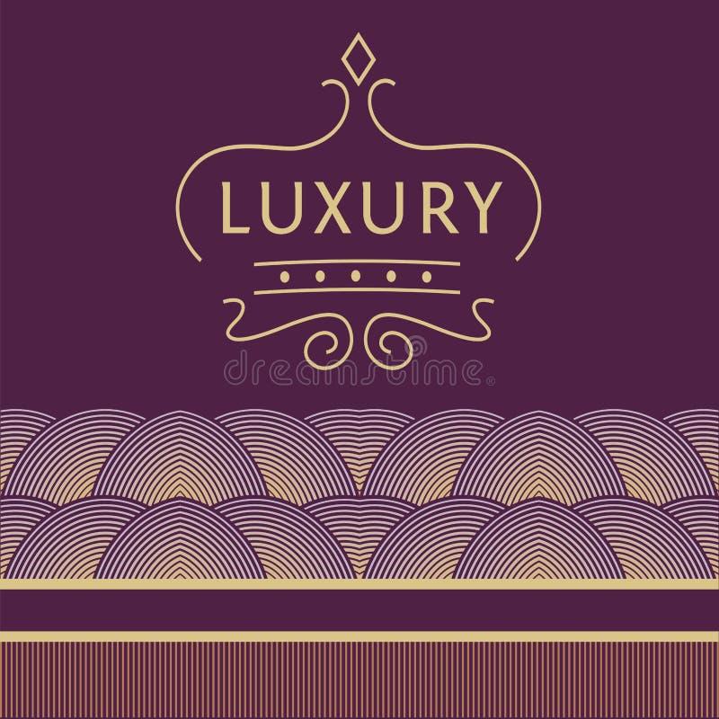 Логотип для магазинов, бутиков Логотип на пурпуре иллюстрация штока
