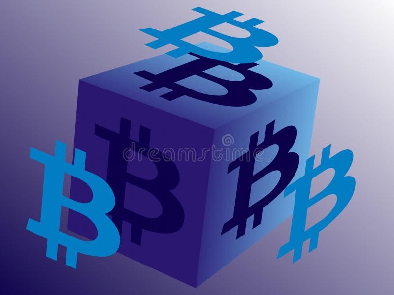 Логотип для Bitcoin связал дело бесплатная иллюстрация
