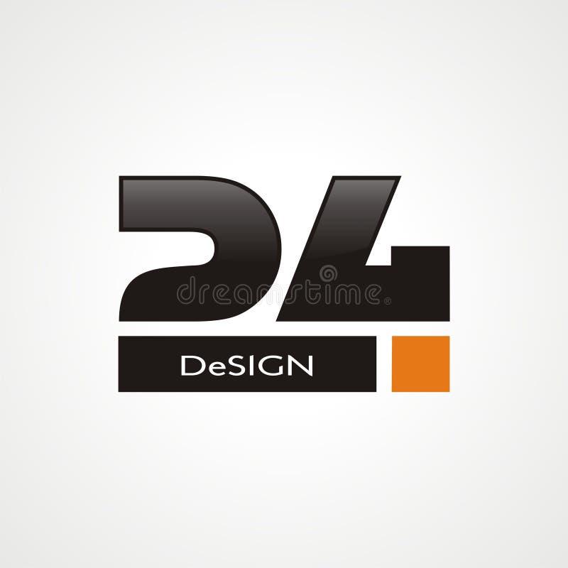 24 логотип иллюстрация вектора