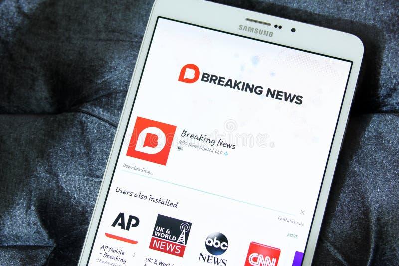 Логотип app последних новостей Эн-Би-Си стоковые фото