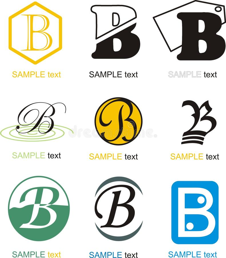 Логотип b письма иллюстрация вектора