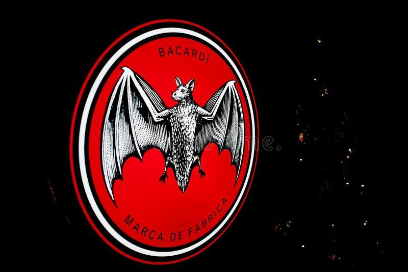 Логотип ` ` BACARDI стоковое фото rf